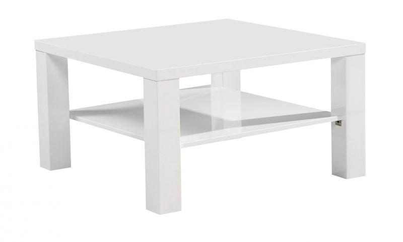 Couchtisch Dakoro 96, Farbe: Weiß Hochglanz - Abmessungen: 45 x 80 x 80 cm (H x B x T)