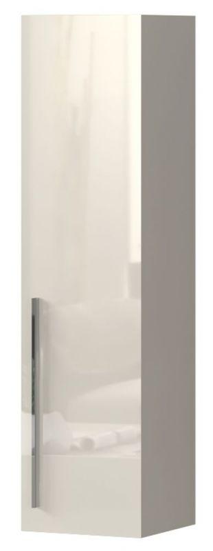 Hängeschrank Garim 39, Farbe: Beige Hochglanz - Abmessungen: 115 x 30 x 29 cm (H x B x T)