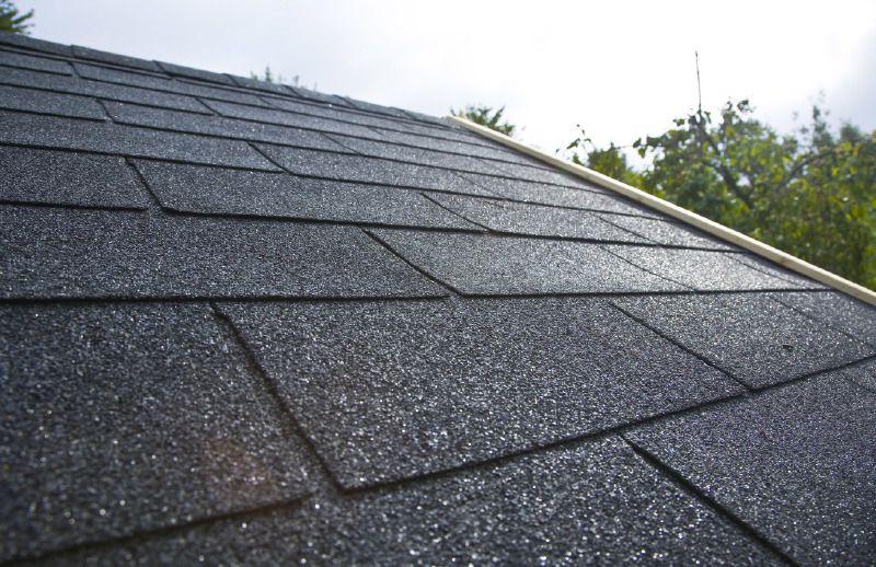Dachschindeln rechteckig - Farbe: Schwarz
