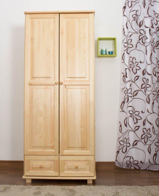 Kleiderschrank Holz natur 012 - Abmessung 190 x 80 x 60 cm (H x B x T)