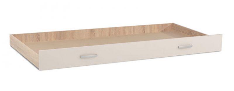 Bettkasten für Einzelbett / Gästebett, Farbe: Eiche Braun / Creme - 80 x 190 cm (B x L)