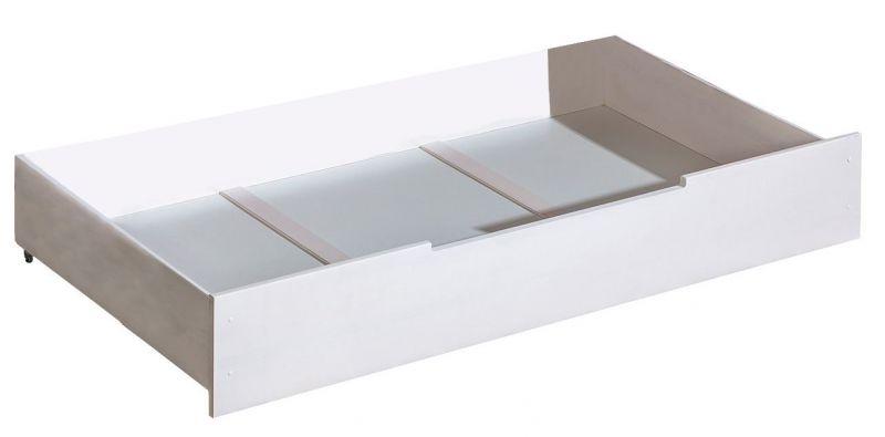 Schublade für Kinderbett / Jugendbett Milo 32, Farbe: Weiß, massiv - 29 x 90 x 192 cm (H x B x L)