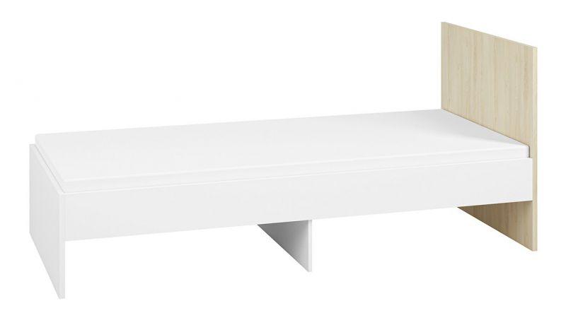 Kinderbett / Jugendbett Egvad 14, Farbe: Weiß / Buche - Liegefläche: 90 x 200 cm (B x L)