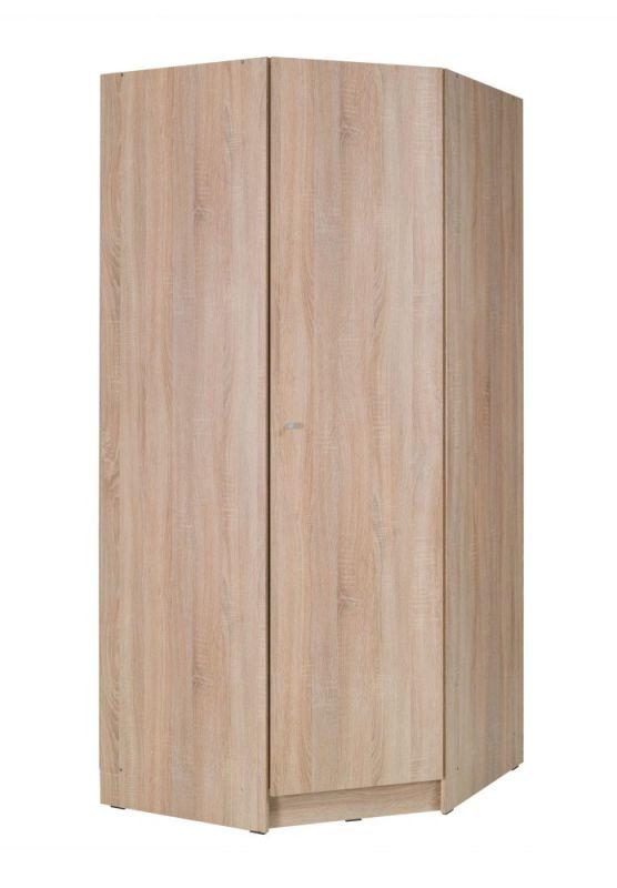 Drehtürenschrank / Eckkleiderschrank Festos 01, Farbe: Eiche - Abmessungen: 212 x 94 x 94 cm (H x B x T)