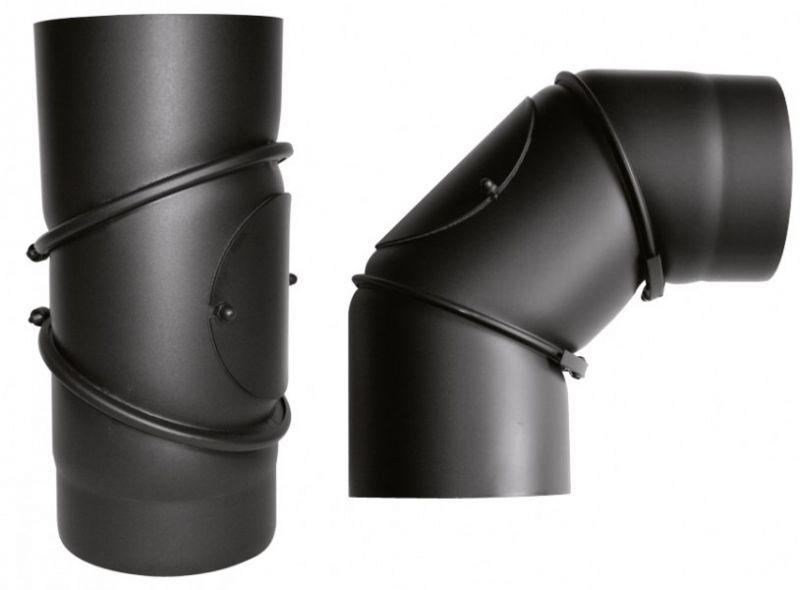 Abb. zeigt Rohrbogen verstellbar in Stahl schwarz