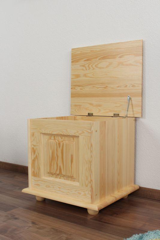 Truhe Kiefer massiv Vollholz Natur 182 – Abmessung 50 x 54 x 46 cm (H x B x T)