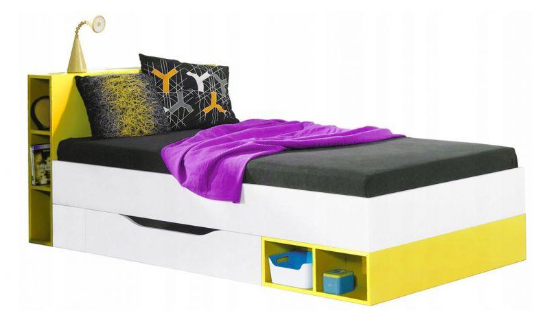 "Kinderbett / Jugendbett ""Geel"" 39, Weiß / Gelb - Liegefläche: 90 x 200 (B x L)"