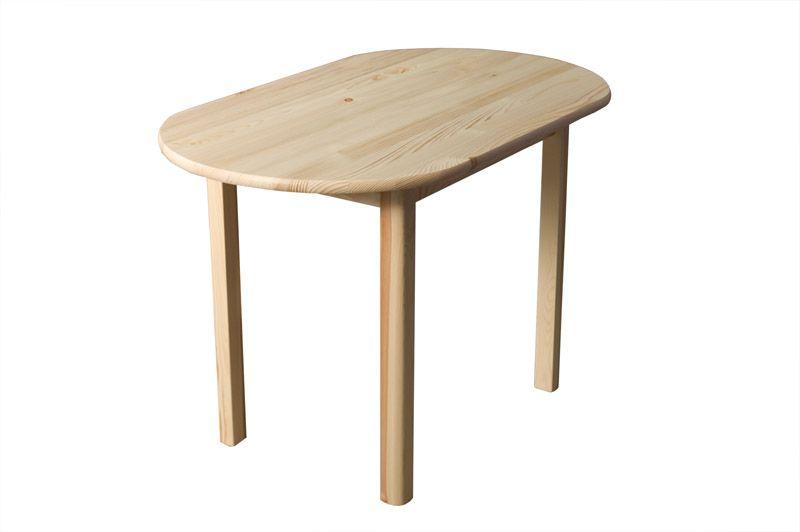Tisch Kiefer massiv Vollholz natur 004 (rund) - Abmessung 150 x 80 cm (B x T)