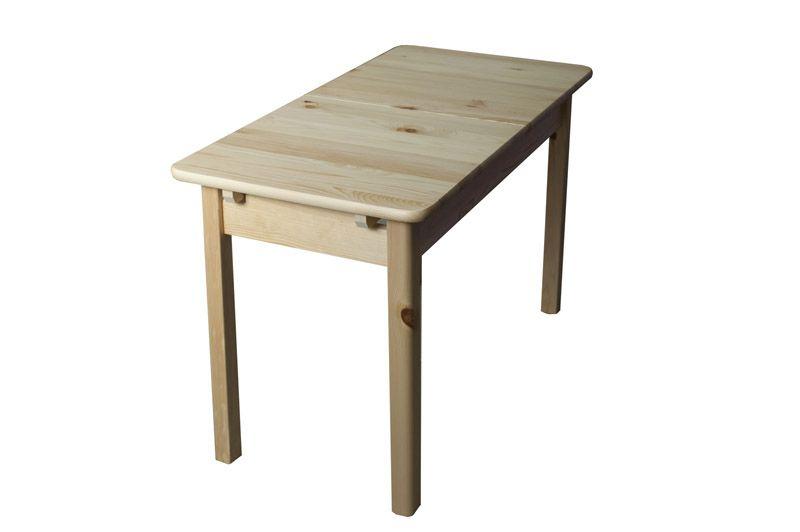 Tisch ausziehbar Kiefer massiv Vollholz natur 008 (eckig) - Abmessung 120/155 x 75 cm (B x T)