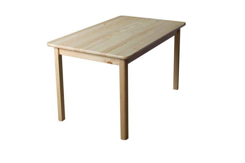Tisch Kiefer massiv Vollholz natur 001 (eckig) - Abmessung 120 x 60 cm (B x T)