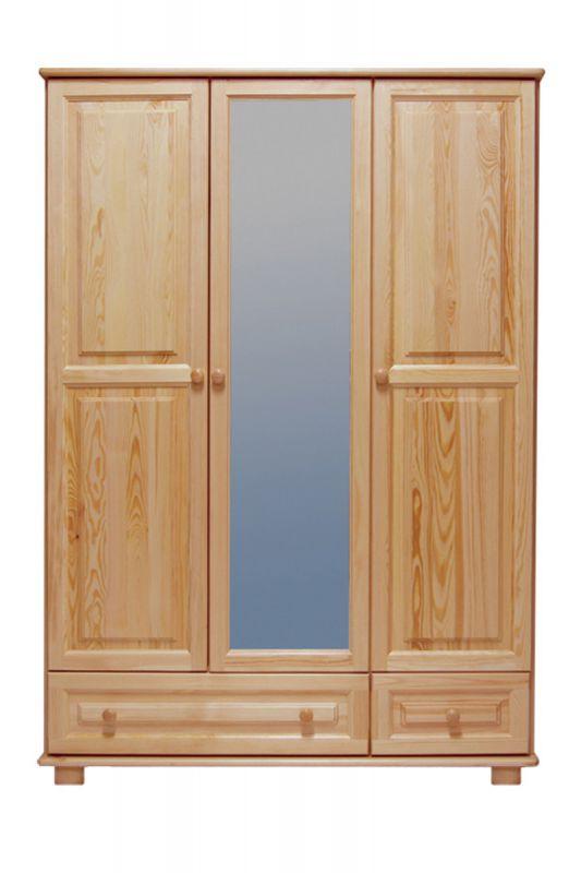 Kleiderschrank Massivholz natur 019 - Abmessung 190 x 133 x 60 cm (H x B x T)