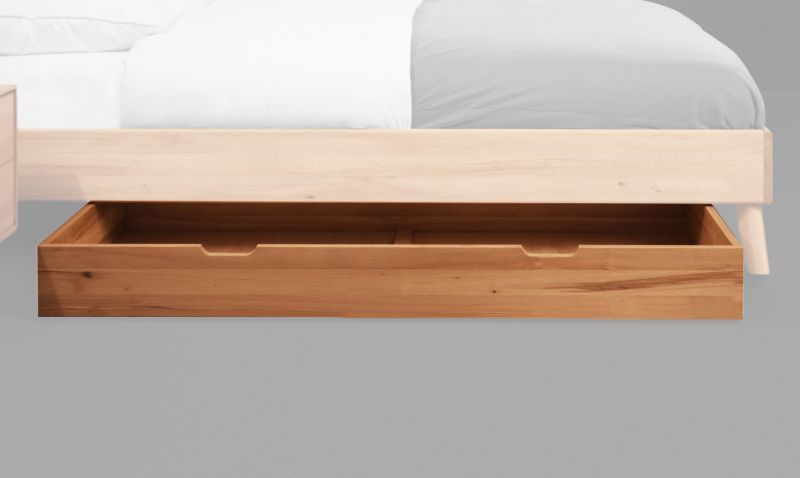 Schublade für Bett Timaru Kernbuche massiv geölt - Abmessungen: 15 x 65 x 150 cm (H x B x L)