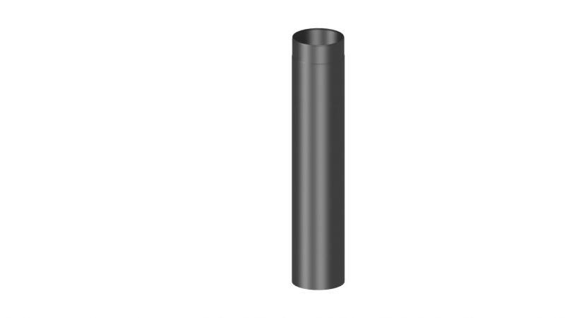 Rauchrohr Länge 1000 mm - Durchmesser: 120 mm, Farbe: Schwarz