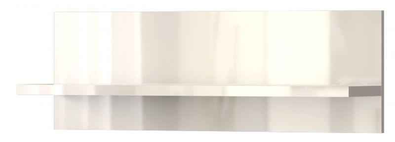 Hängeregal / Wandregal Garim 40, Farbe: Beige Hochglanz - 30 x 90 x 21 cm (H x B x T)