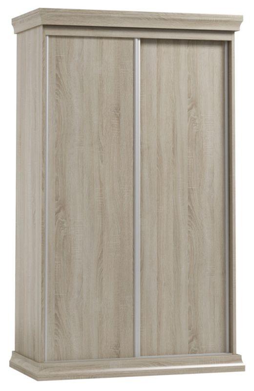Schiebetürenschrank / Kleiderschrank Wewak 22, Farbe: Sonoma Eiche - Abmessungen: 200 x 120 x 62 cm (H x B x T)