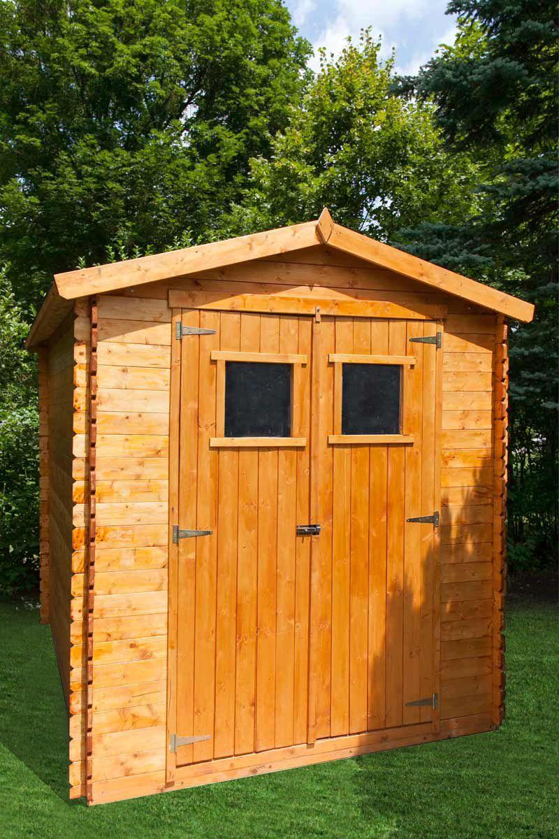 Gartenhäuschen Wieselburg - 2,00 x 2,50 Meter aus 19mm Blockbohlen