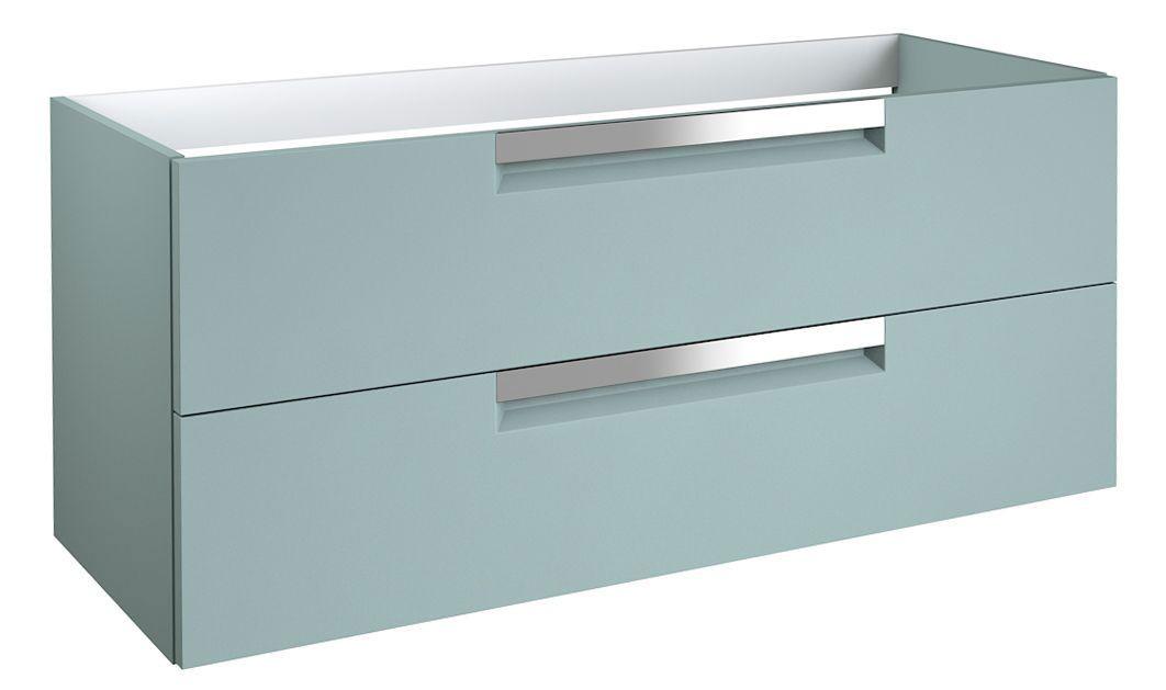 Waschtischunterschrank Meerut 76, Farbe: Aquamarin – 50 x 119 x 45 cm (H x B x T)