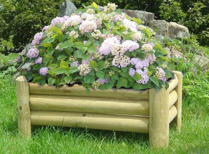 Blumenkasten Tricolor rechteckig - Abmessung: 58 x 28 x 30 cm  (B x T x H)
