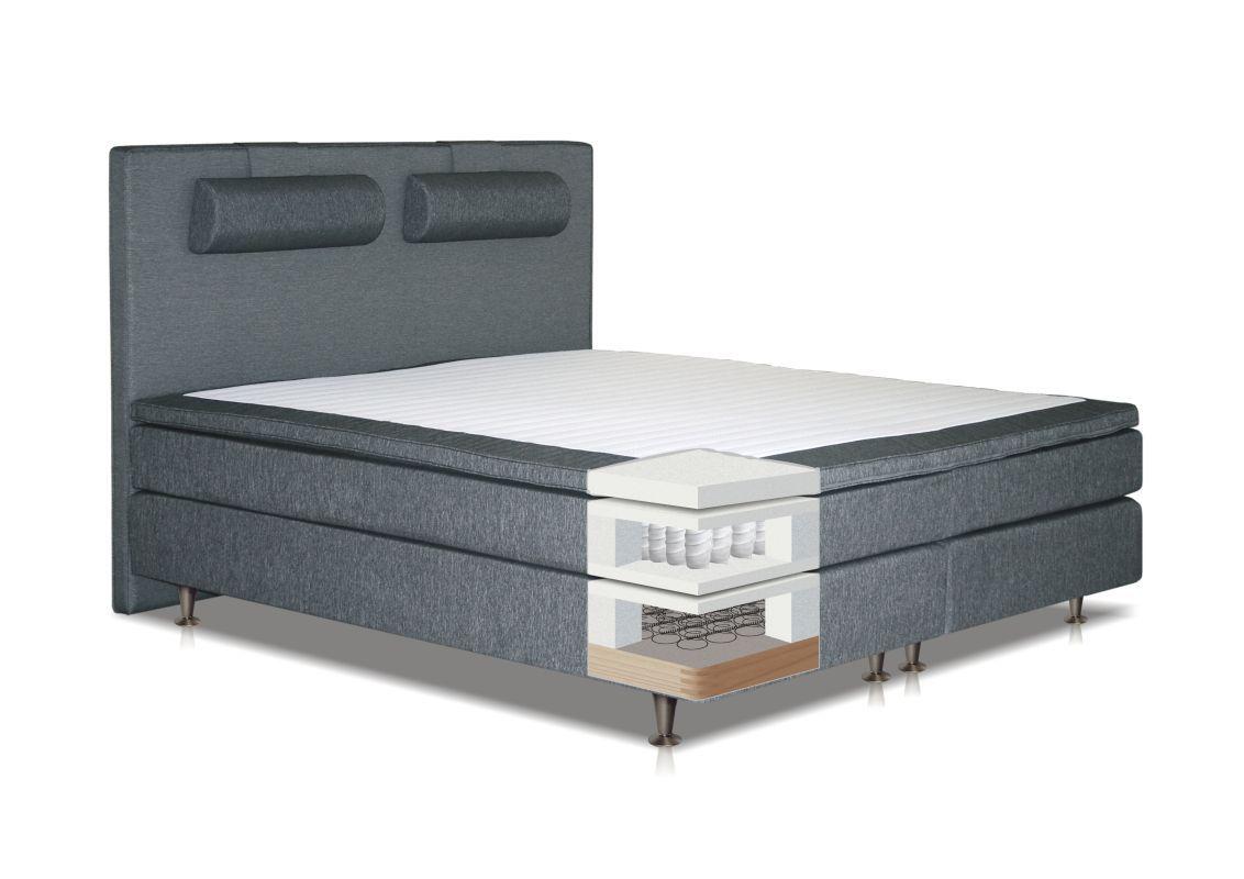Boxspringbett COBIA, Box Bonellfederkern, Matratze Taschenfederkern, Top  Matress Schaumstoff   Abmessung 12 x 12 cm