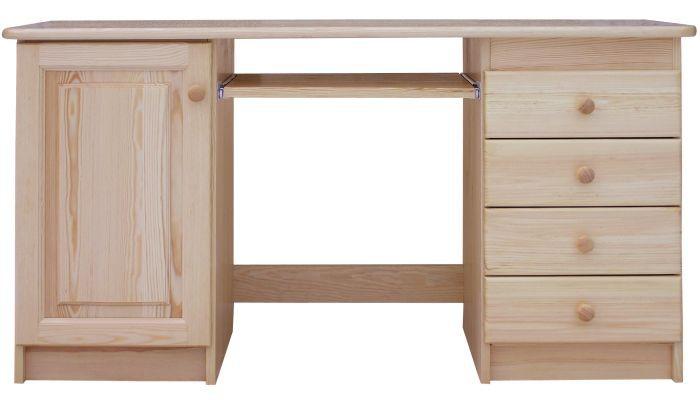 Schreibtisch Kiefer massiv Vollholz natur Junco 187 - Abmessung 75 x 140 x 55 cm