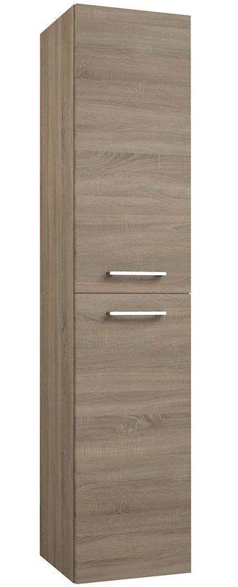 Badezimmer - Hochschrank Rajkot 88, Farbe: Eiche – 160 x 35 x 35 cm (H x B x T)