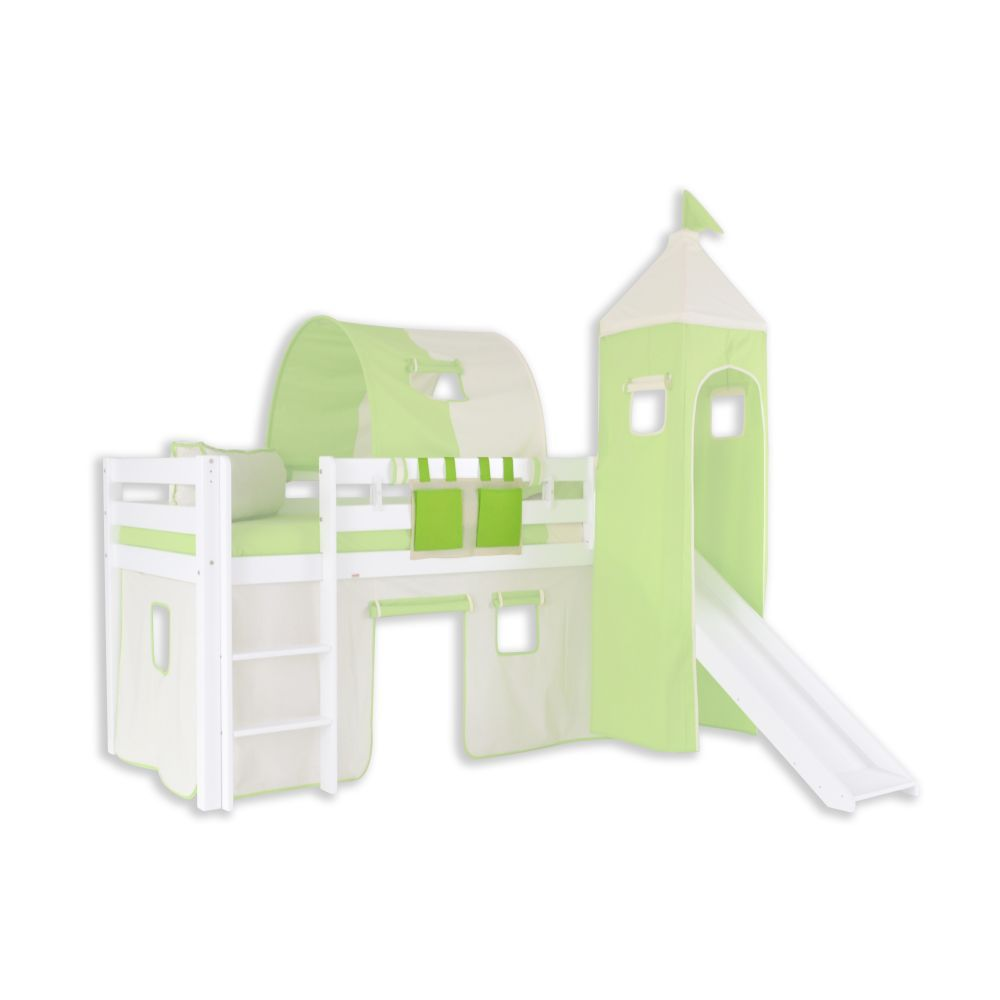 Stofftasche - Farbe:Grün/Beige