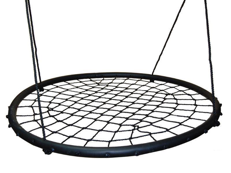 Nestschaukel 01 inkl. Seil, Durchmesser: 120 cm - Farbe: Schwarz