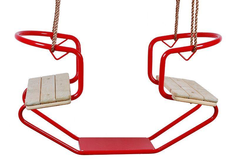 Gondelschaukel / Doppelschaukel 01 inkl. Seil - Farbe: Rot
