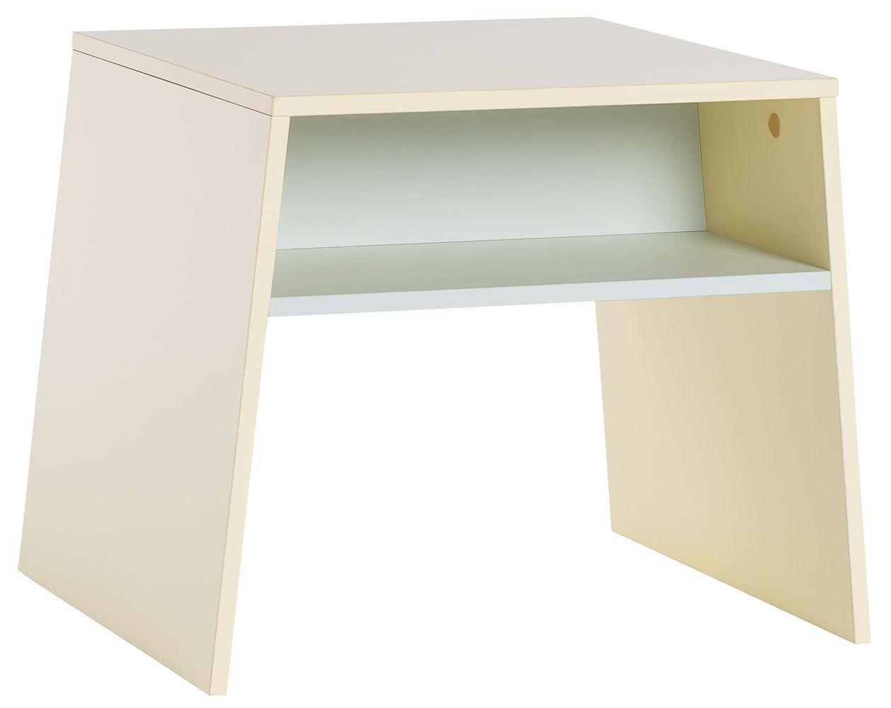 Kindertisch Irlin 03, Farbe: Gelb / Grün - Abmessungen: 49 x 60 x 50 cm (H x B x T)
