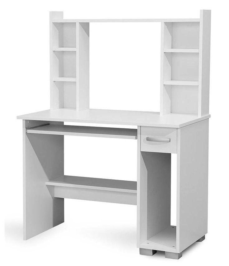 Schreibtisch Pilas 03, Farbe: Weiß - 136 x 100 x 55 cm (H x B x T)