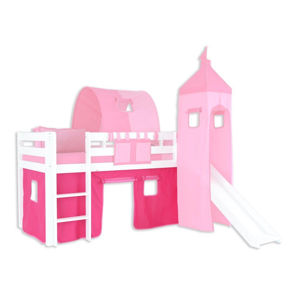 Vorhänge Stoff-Set - Farbe:Pink/Rosa