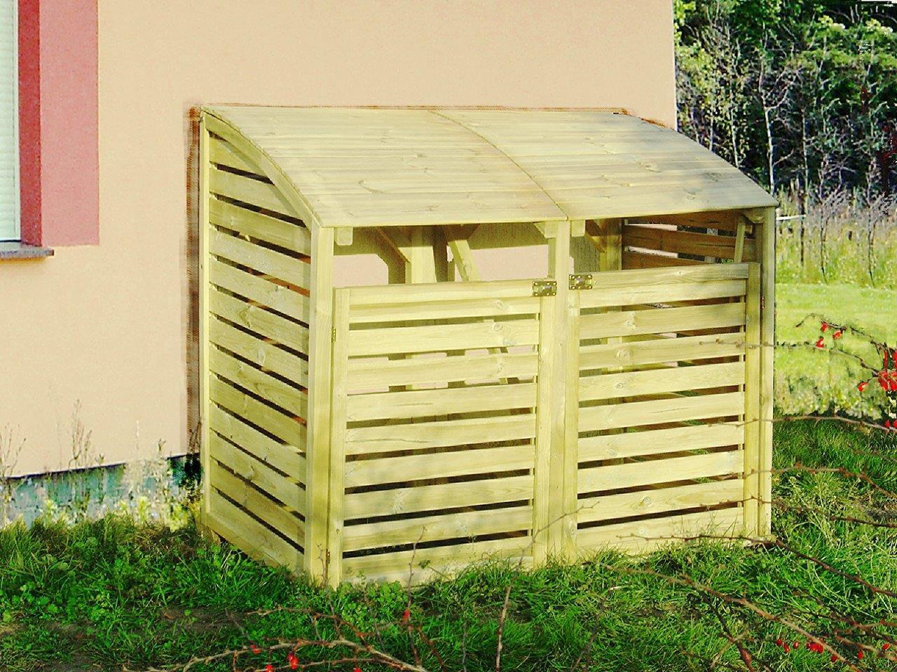 Mülltonnen-Unterstellbox Humulus - Abmessung: 160 x 80 x 125 cm (B x T x H)