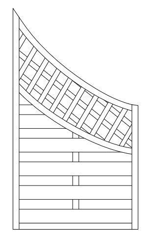 Zaunelement 02 -  aus Kiefernholz, FSC®