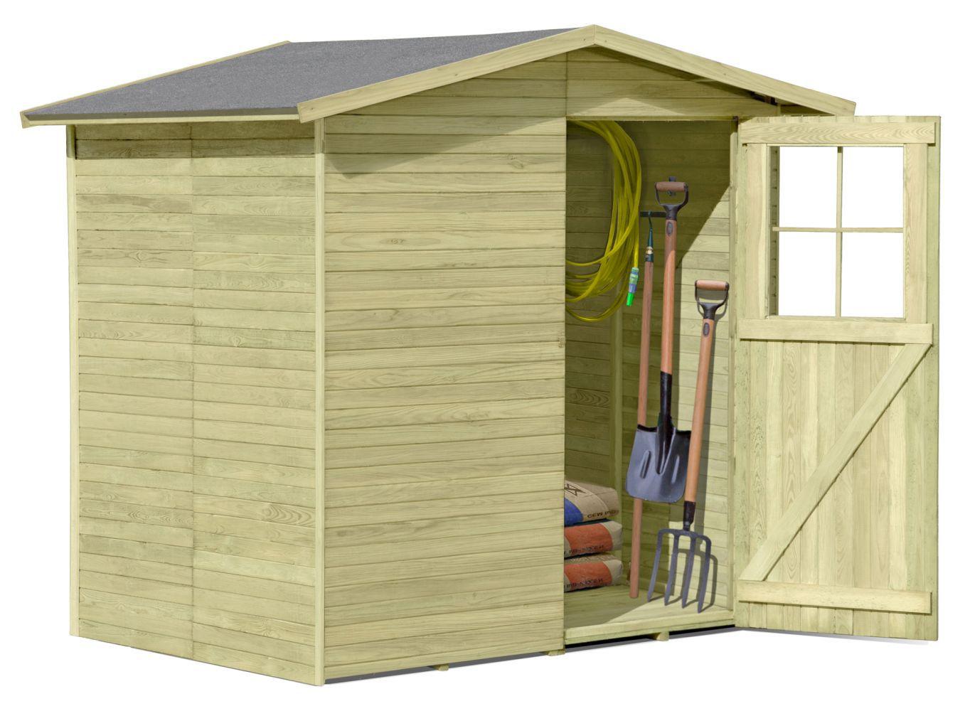 Gerätehaus 05, aus Kiefernholz, FSC® - Außenmaße: 200 x 165 x 210 cm (L x B x H)