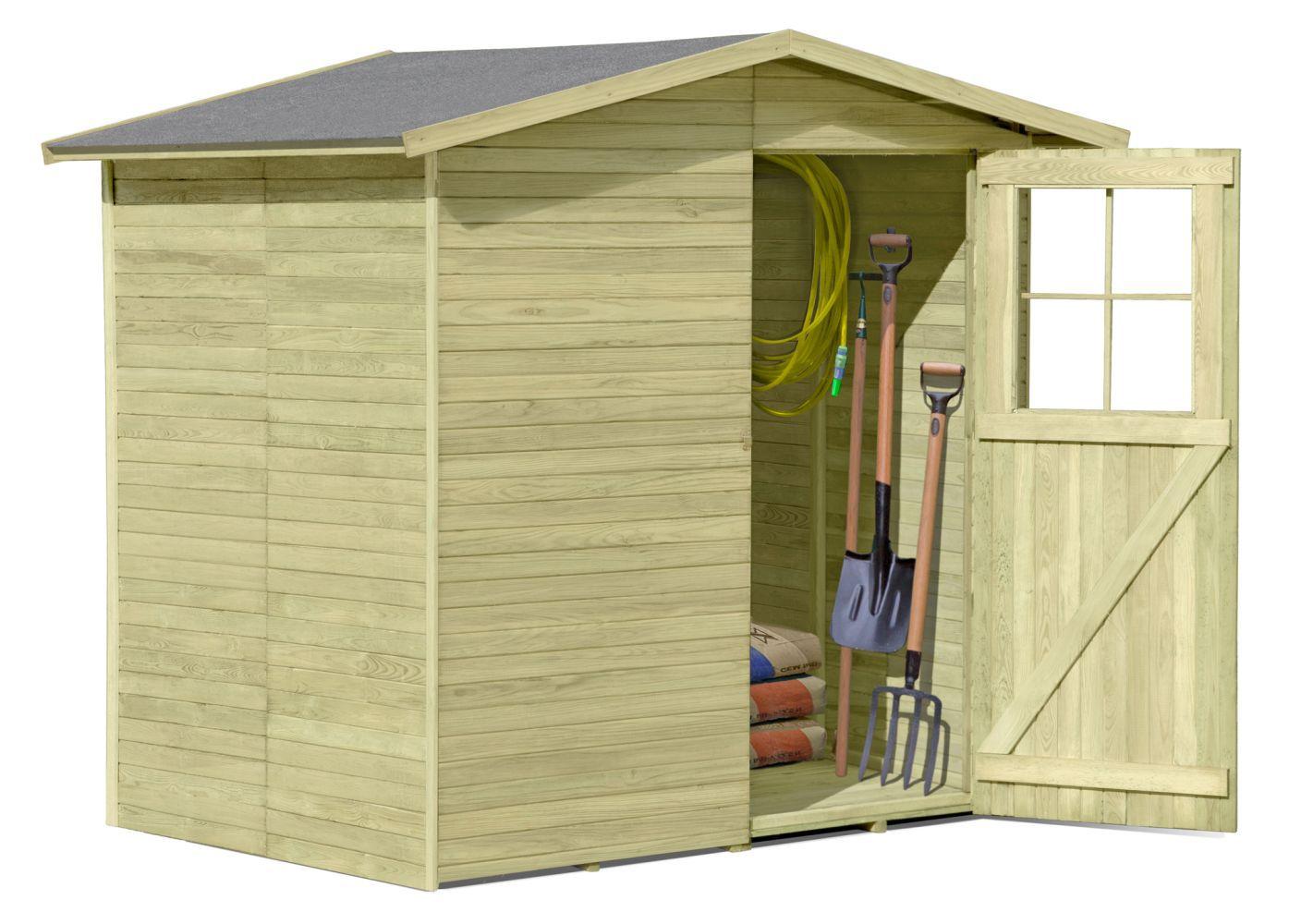 Gerätehaus 06, aus Kiefernholz, FSC® - Außenmaße: 200 x 200 x 210 cm (L x B x H)