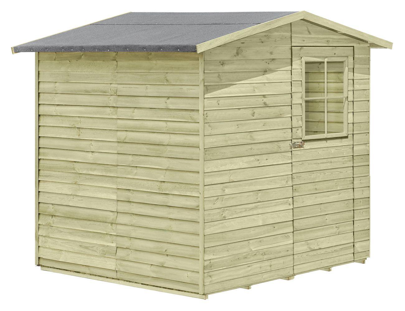 Gerätehaus 02, aus Kiefernholz, FSC® - Außenmaße: 200 x 200 x 210 cm (L x B x H)