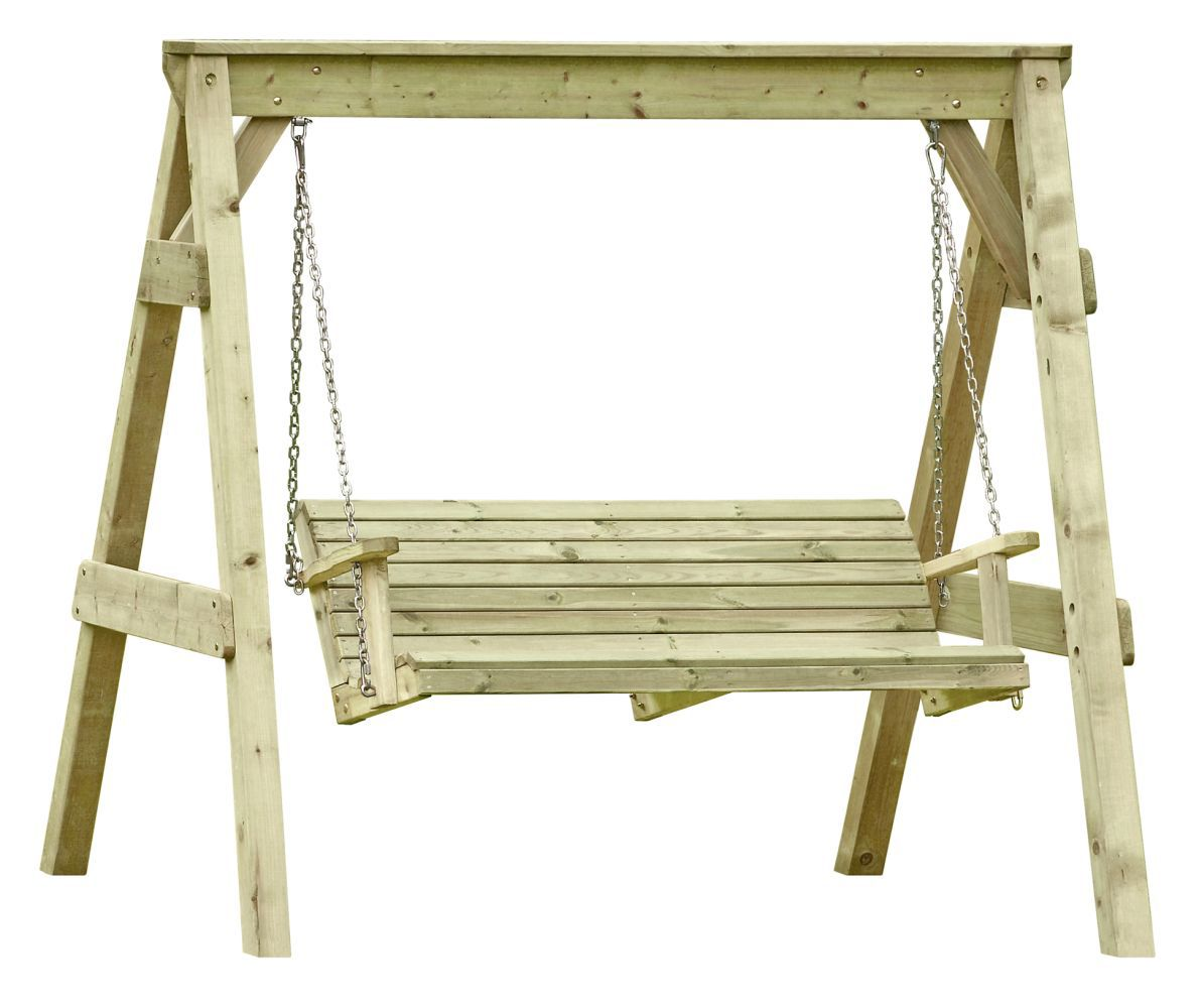 Hollywoodschaukel 2-Sitzer 01 - aus Kiefernholz, FSC® - Abmessungen: 190 x 164 x 198 cm (B x T x H)