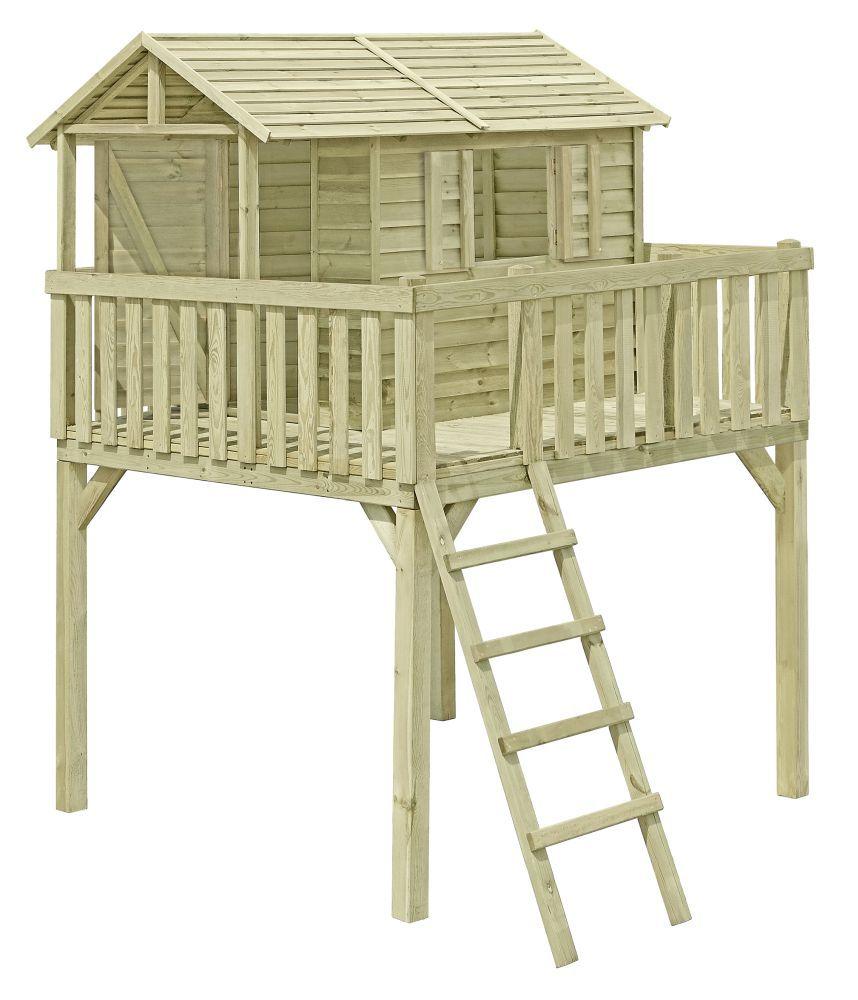 Kinderspielhaus K36 - Abmessungen: 2,16 x 2,01 Meter, FSC®