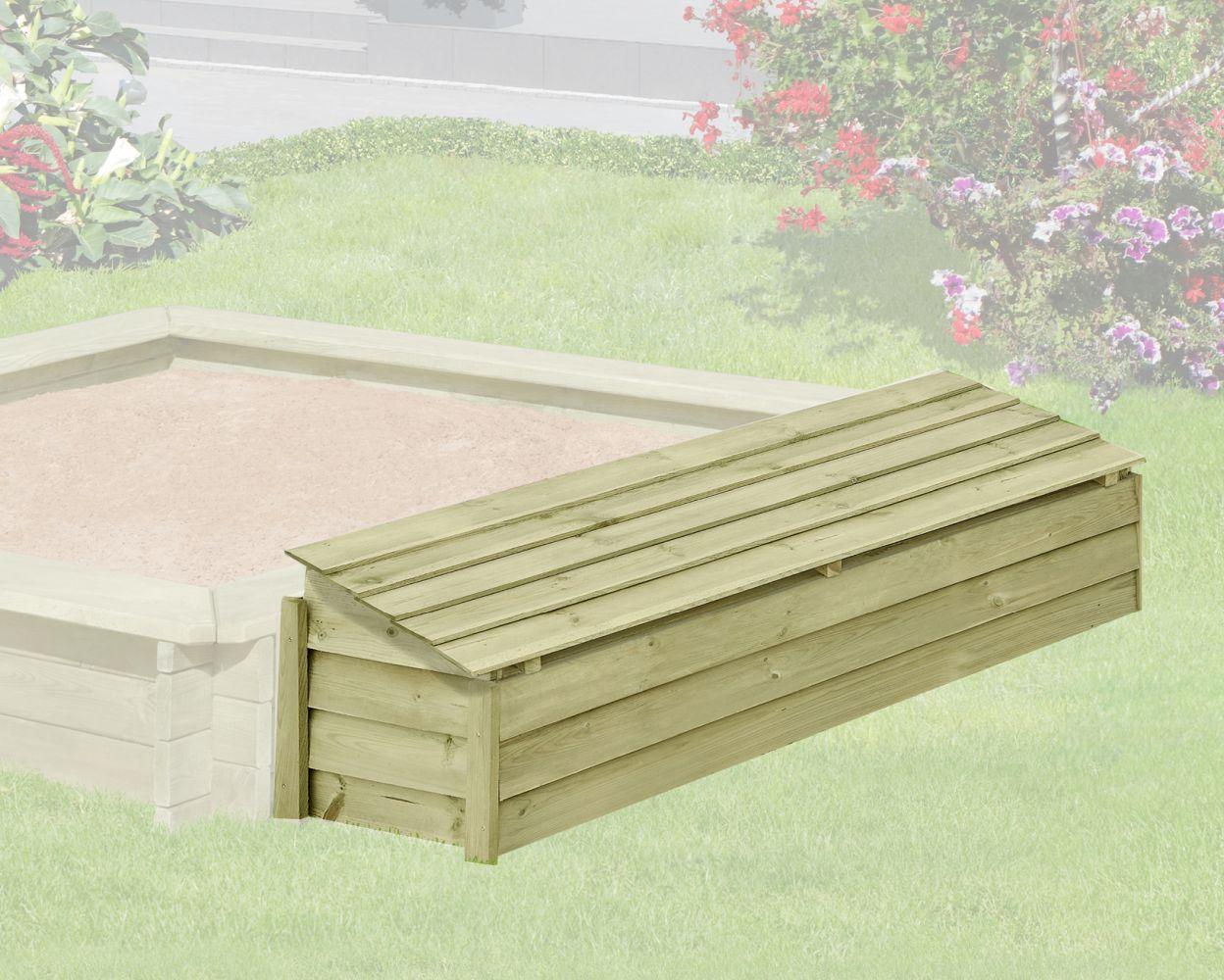 Holzbox mit Klappdeckel 01 -  aus Kiefernholz, FSC® - Abmessungen: 147 x 43 x 39 cm (B x T x H)