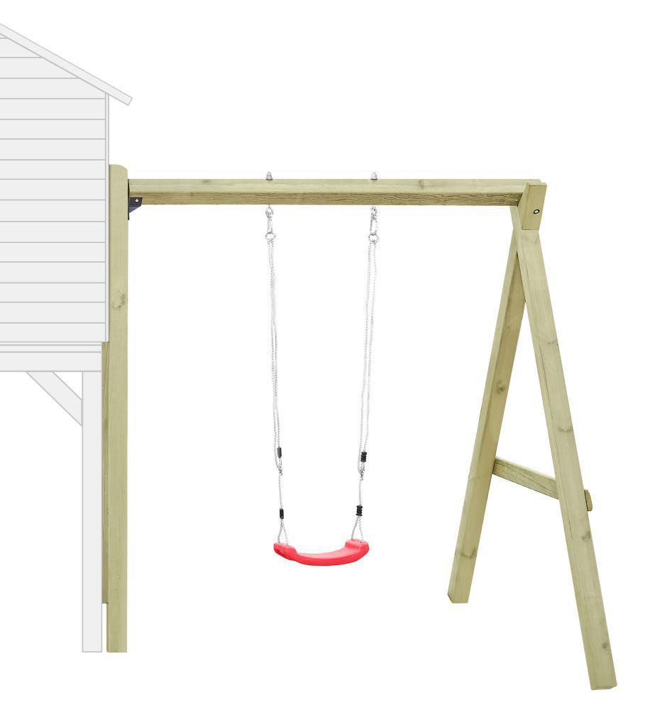 Anbau-Einzelschaukel 01 für Kinderspielhaus, FSC® - Abmessungen: 180 x 190 cm (L x B)