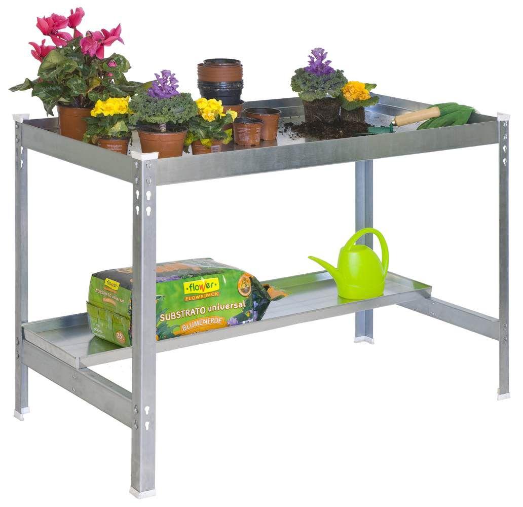 Gartentisch Galva, Farbe: Grau, Maße: 84 x 120 x 60 cm (H x B x T), Traglast: 600 kg