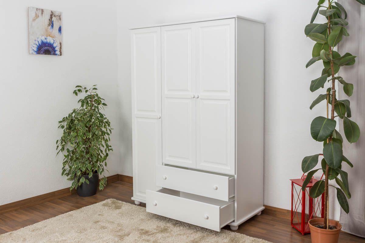 Weißer Massivholz Kleiderschrank