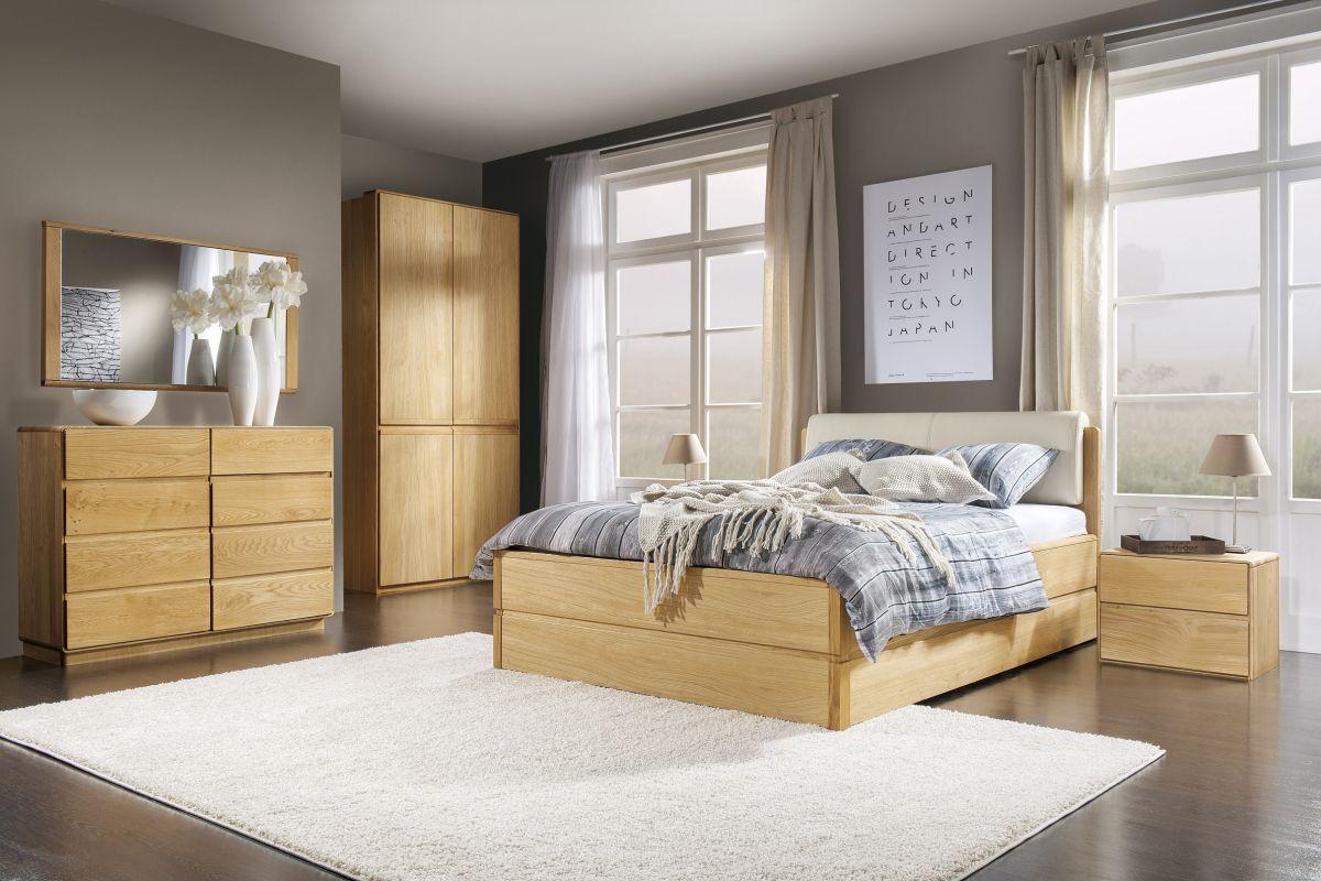 Schlafzimmer Komplett - Set C Fazenda, 6 - teilig, teilmassiv, Farbe: Natur