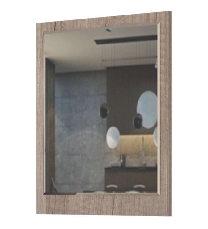 Spiegel Sagone 05, Farbe: Eiche Dunkelbraun - Abmessungen: 78 x 68 x 2 cm (H x B x T)