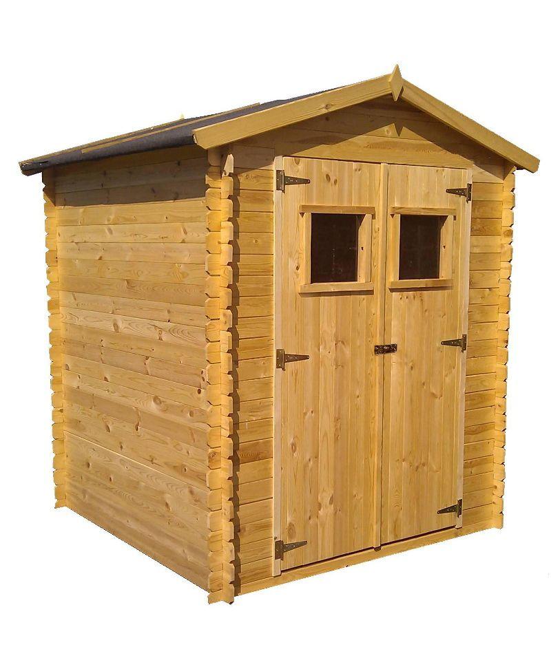 Holzhütte 19 mm Wien - L: 200 cm x B: 200 cm - inkl. Dachpappe