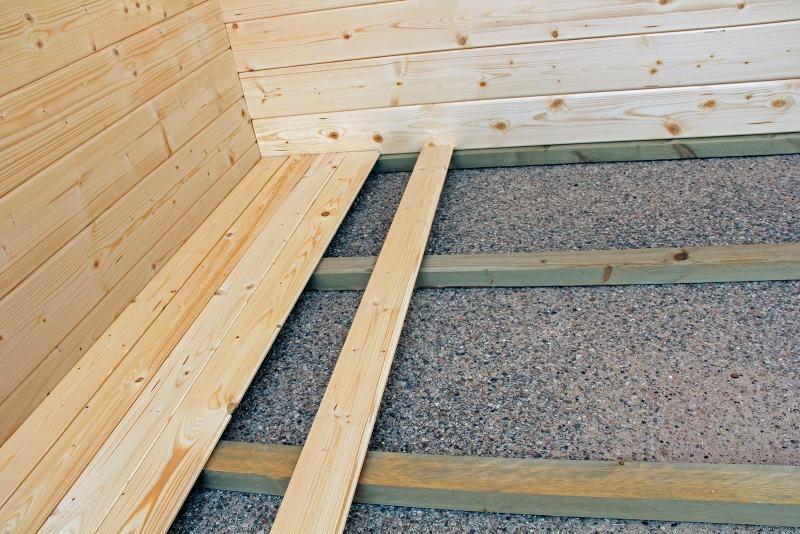 Fußboden für Gartenhaus PR9 mit Grundfläche: 10,40 m²