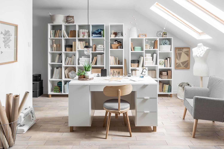 "Büro Komplett - Set ""Invernada"", 4-teilig, Farbe: Weiß"