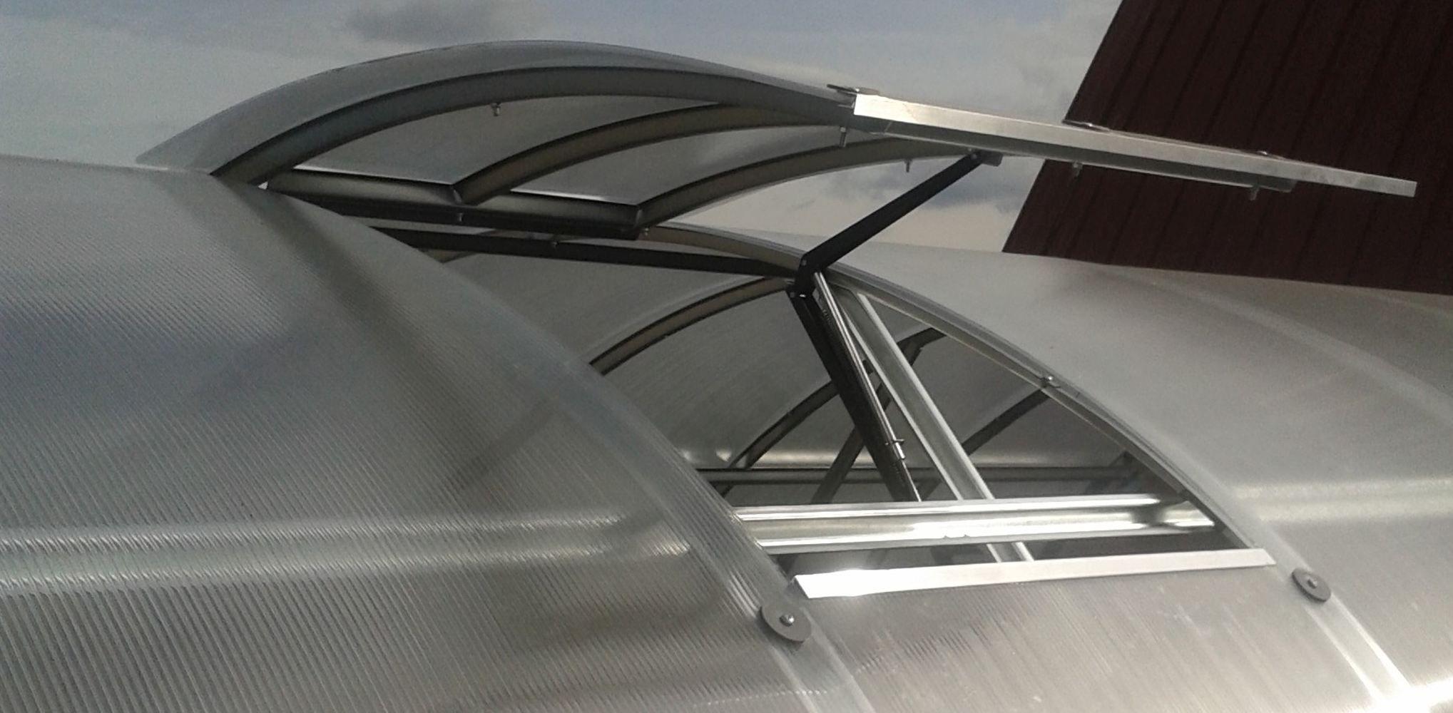 Dachfenster für die Gewächshäuser - Farbe: Aluminium