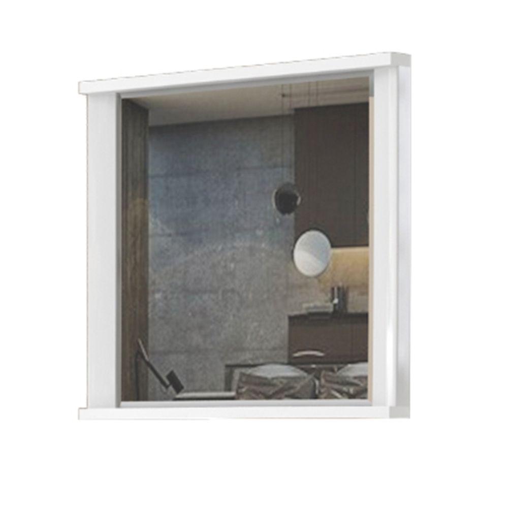 Spiegel Sili 05, Farbe: Weiß - Abmessungen: 65 x 80 x 7 cm (H x B x T)
