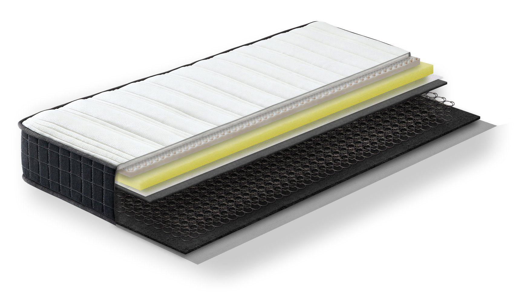 Steiner Premium Matratze Dream mit Bonellfederkern - Größe: 90 x 190 cm, Härtegrad H2-H3, Höhe: 20 cm